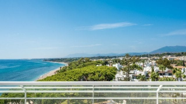 Penthouse with sea views and roof top pool Golden Mile Marbella
