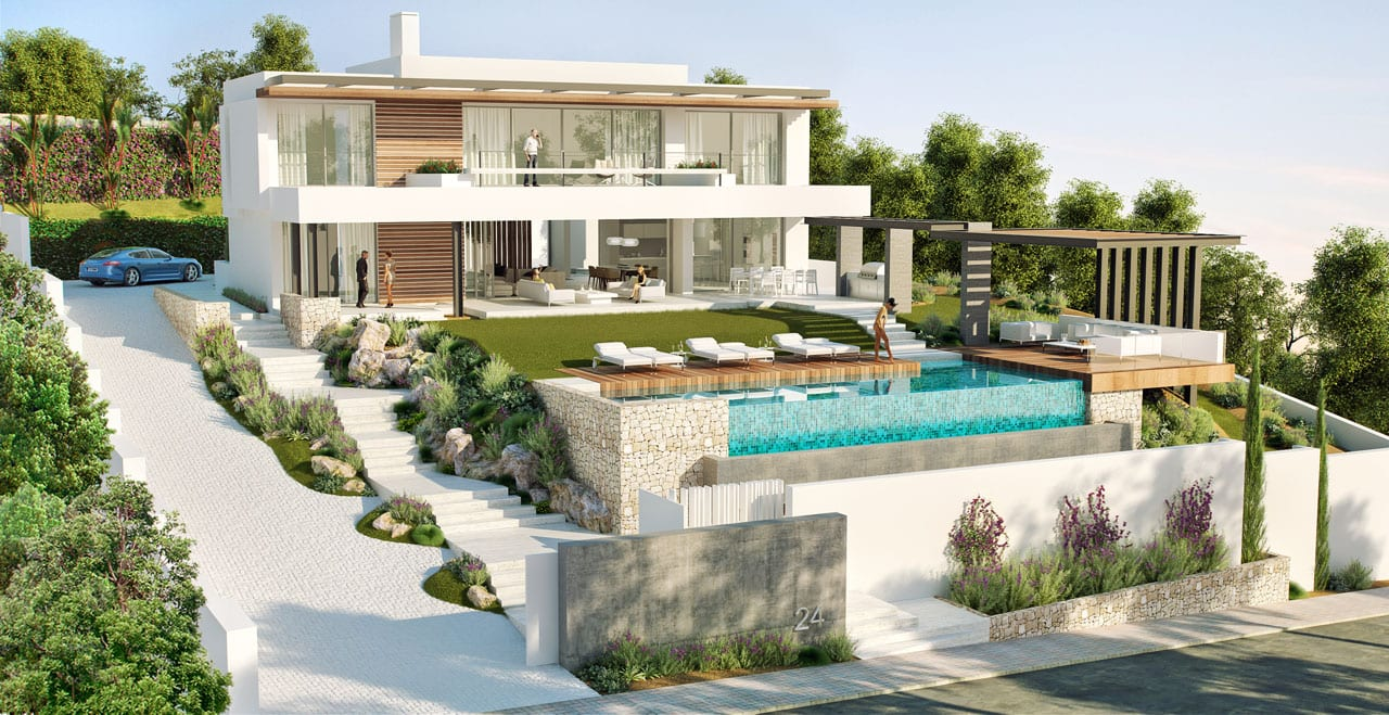 Benhavis modern villa sold offplan ready 2018 for Best villa design