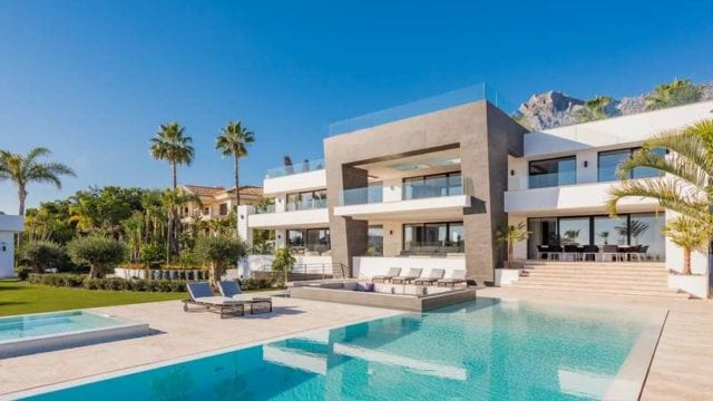 Marbella Hillside modern villa for sale with sea views
