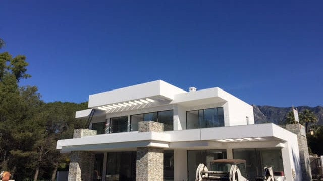 Golden mile modern villa for sale 100 meter from beach