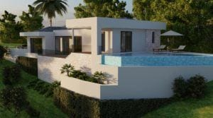Benalmadena new villa with great sea views Project by award winning architect Carlos Lamas, completion within 14 months