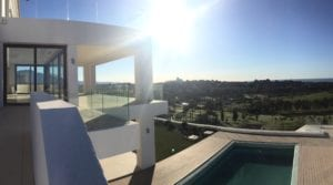 SOLD Benahavis modern villa with panoramic sea and golf views