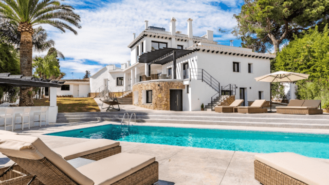 Golden mile Marbella villa with sea views