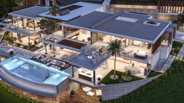 Benahavis villa on 10.190 m2 flat plot with sea views