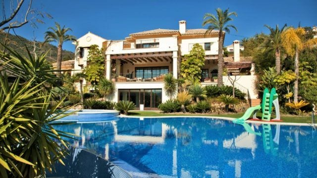 Reduced, classic La Zagaleta villa with tropical gardens