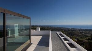 Marbella east hillside modern villa with sea views