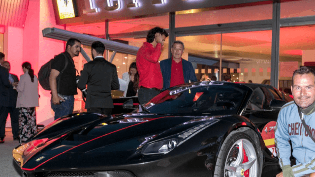 Black Laferrari aperta in Marbella Spain, 70 years celebrations Enzo Ferrari
