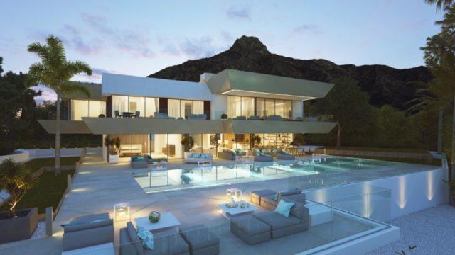 Marbella Hillside new modern villa with sea views