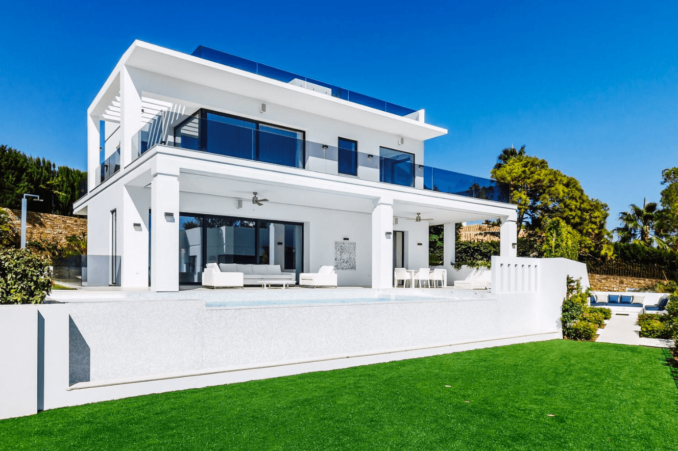 Marbella Hillside New Modern Villa With Sea Views