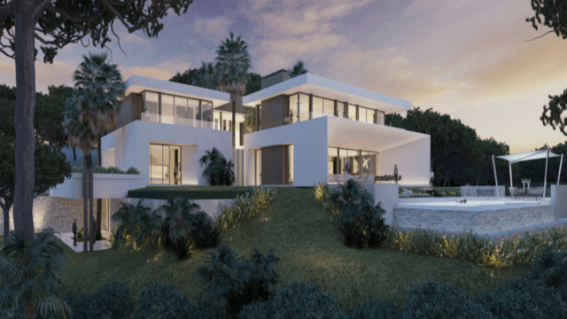 Benahavis modern villas with sea views in a gated community