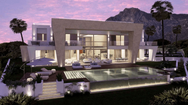 Marbella hillside villa for sale in a Gated community some sea views