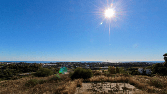 Benahavis plot with sea views, gated community
