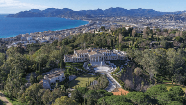 South of France Palace for sale. Sea & Mountain views
