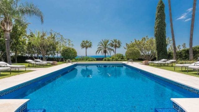 Marbella Hillside Mansion with Sea views & Gated Community