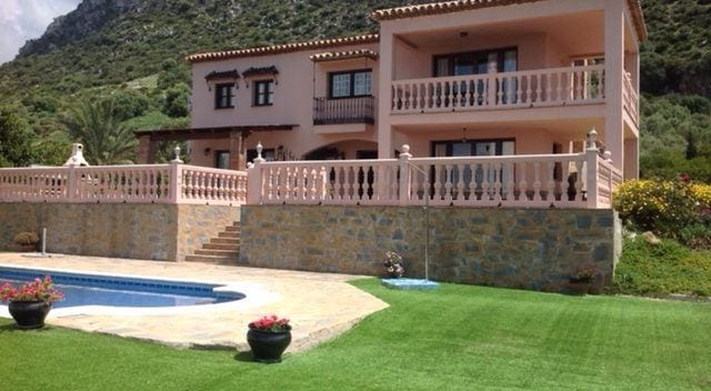 Finca for sale with open views area of Casares-Estepona