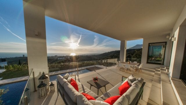 Marbella East Modern Villa with Breathtaking Panoramic Sea Views