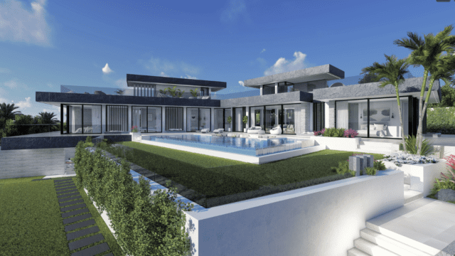Benahavis modern offplan villa with Sea views