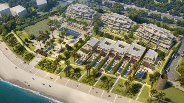 Estepona Beachfront Development apts, Penthouses & Villas for sale offplan