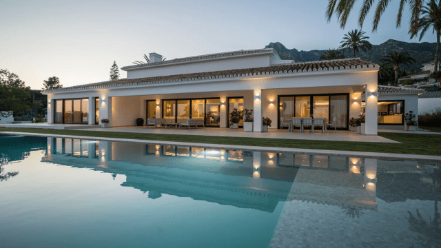 Marbella Hillside reformed Mansion with Sea views