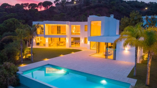 Reduced – Benahavis brand new modern villa for sale Sea views
