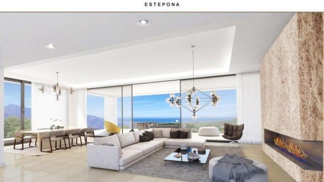 El Paraiso modern villa with Sea views for sale ready 2020