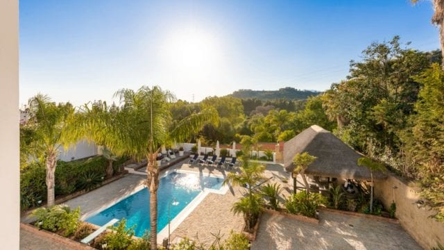 Marbella hillside villa with Sea views.Private and quite area