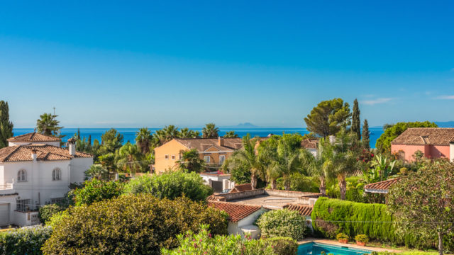 Golden mile Marbella villa with Seaviews