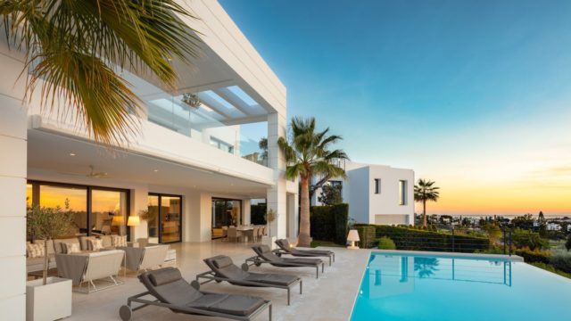 Nueva Andalucia modern villa in gated community west facing