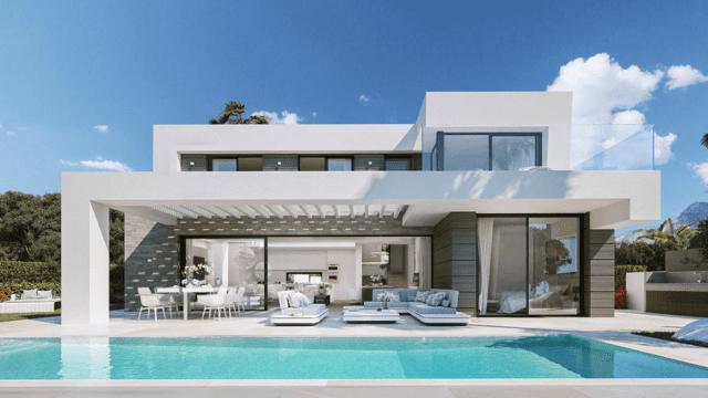 Marbella East Modern villas near Marina & Beach.Great Sea views ready end 2020