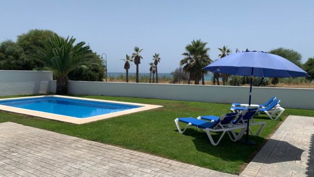 Estepona beachfront holiday rental villa with perfect sea views and pool