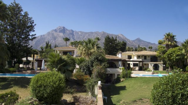 Marbella hillside 2 private villas with 10 bedrooms for sale