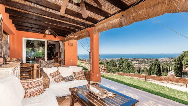 Marbella villa with Panoramic Sea & Coastal views