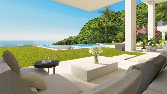 El Madronal brand new Modern villa for sale with Sea views